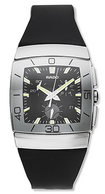 Rado Sintra Series Ceramic Chronograph Quartz Mens Watch R13600019 in Black