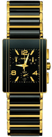 Rado Integral Series 18kt Yellow Gold and Black Ceramic Chronograph Mens Watch R20592152