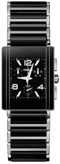 Rado Integral Series Ceramic Steel Quartz Mens Watch R20591152 in Black