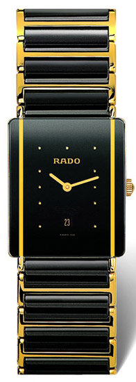 Rado Integral Series Ceramic Quartz Mens Watch R20282162 in Black