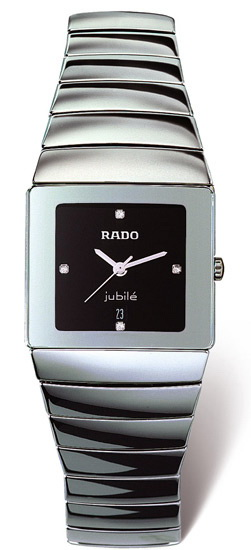 Rado Sintra Series Platinum-tone Ceramic Unisex Watch-R13332742
