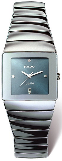 Rado Sintra Series Platinum-tone Ceramic Quartz Unisex Watch-R13332762