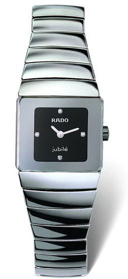 Rado Sintra Series Platinum-tone Ceramic Quartz Ladies Watch-R13334732