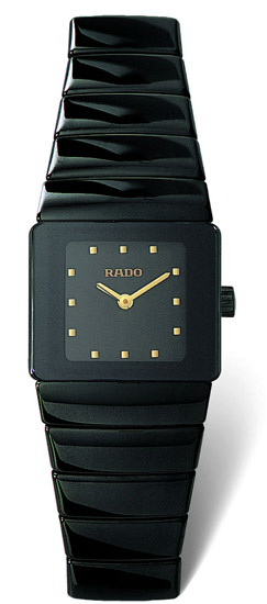 Rado Sintra Series Black Ceramic Quartz Ladies Watch-R13337162