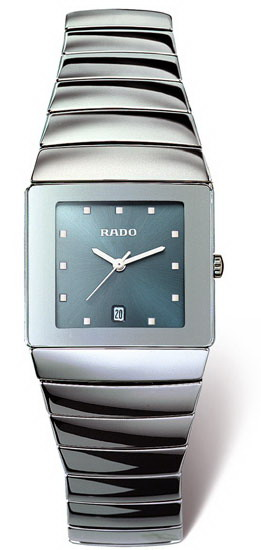 Rado Sintra Series Platinum-tone Ceramic Unisex Watch-R13332202