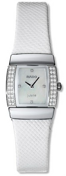 Rado Sintra Series Midsize Diamond White Leather Quartz Ladies Watch R13578906