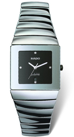Rado Jubile Series Platinum-tone Ceramic Quartz Mens Watch R13432732