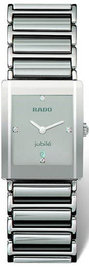 Rado Integral Series Midsize Platinum-tone Ceramic Unisex Watch R20486732 in Silver