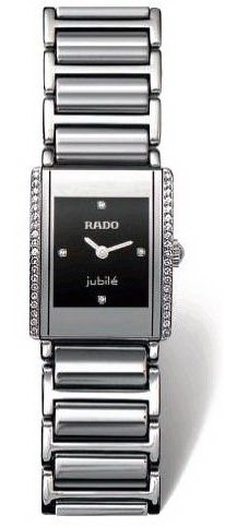 Rado Integral Series Silver Tone Ceramic Quartz Ladies Watch R20430732