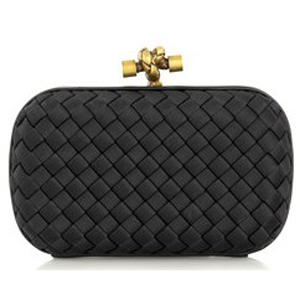 Hot Sell Bottega Veneta Impero Satin Clutch 113085 black