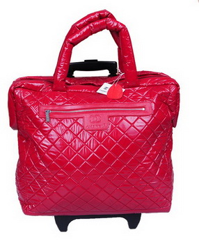 Chanel CoCo Cocoon Quilted Nylon Trolley A47205 Red