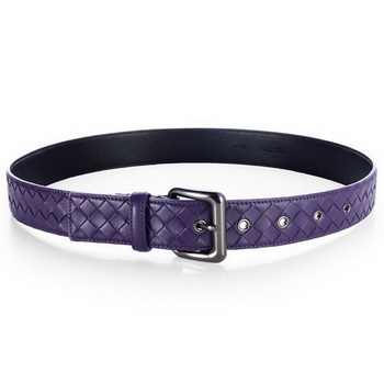 Bottega Veneta Intrecciato Nappa Belt Purple