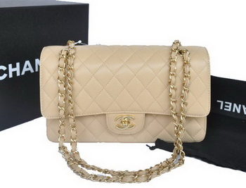 Chanel 2.55 Series Flap Bag Original Caviar Leather A1112 Apricot