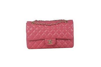 Chanel 2.55 Series A1112 Rose Original Leather Classic Flap Bag Gold