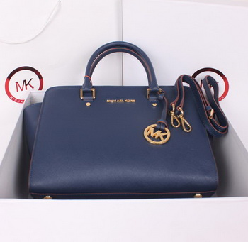 Michael Kors Selma Top-Zip Satchel Bag MK115 RoyalBlue