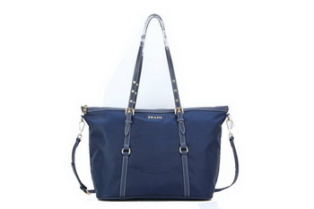 Prada Shoulder Bags Nylon Jacquard BL8503 RoyalBlue
