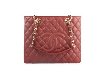 Chanel A50995 Maroon Original Cannage Leather Shoulder Bag Gold