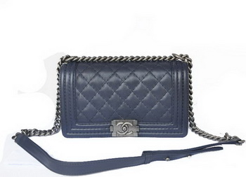 Chanel Boy Flap Shoulder Bag Original Calfskin Leather A67086 RoyalBlue