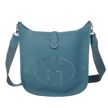 Hermes Evelyne Messenger Bag H1608 Light Blue