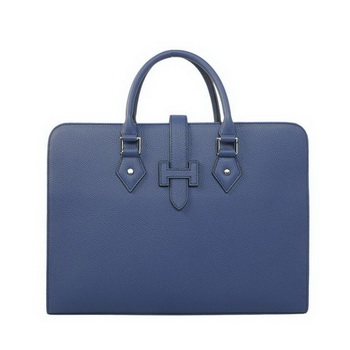 Hermes Mens Briefcase Calf Leather 3309 RoyalBlue