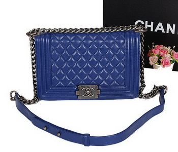 Boy Chanel Flap Shoulder Bag Original Sheepskin Leather A67086 RoyalBlue