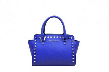 Michael Kors Medium Selma Top-Zip Satchel Bag RoyalBlue