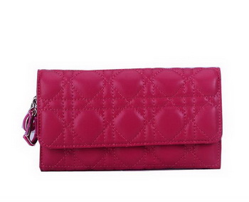Dior Bi-Flod Wallet in Lambskin Leahter CD086 Rose