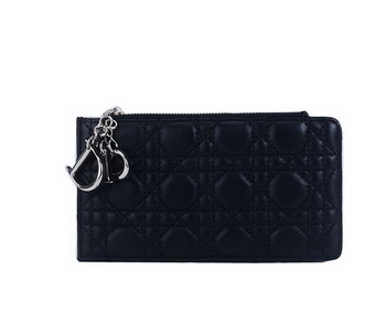 Dior Card Case in Lambskin Leahter CD108 Black
