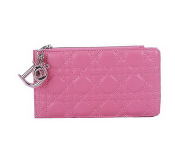 Dior Card Case in Lambskin Leahter CD108 Pink
