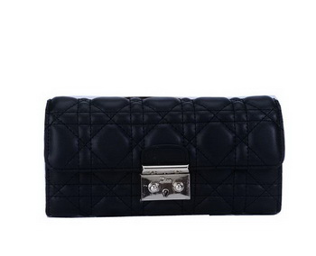 Dior Flap Wallet in Sheepskin Leahter CD9002 Black