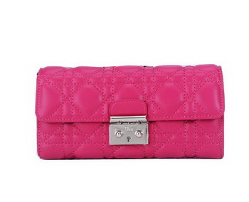 Dior Flap Wallet in Sheepskin Leahter CD9002 Rose