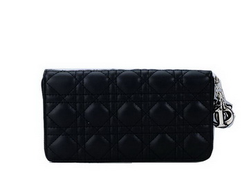 Lady Dior Escapade Wallet Sheepskin Leahter CD1098 Black