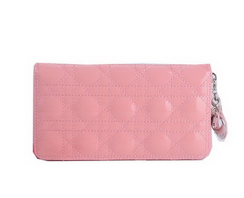 Lady Dior Escapade Wallet Patent Leahter CD189 Pink