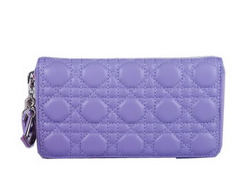 Lady Dior Escapade Wallet Sheepskin Leahter CD1098 Lavender