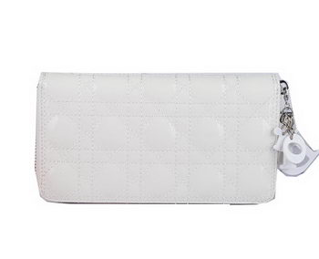 Lady Dior Escapade Wallet Sheepskin Leahter CD1098 White