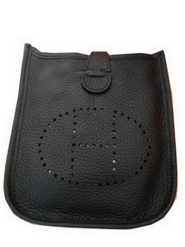 Hermes mini Evelyne Messenger Bag H1608S Black