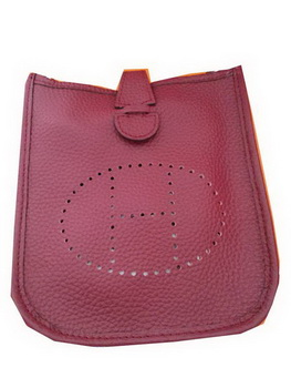 Hermes mini Evelyne Messenger Bag H1608S Burgundy