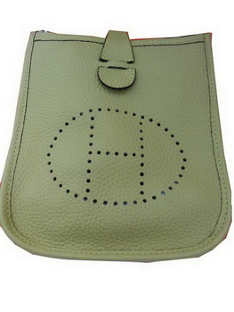 Hermes mini Evelyne Messenger Bag H1608S Light Green