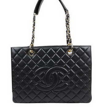Chanel Classic Coco Bag Black GST Caviar Leather A50995 Gold