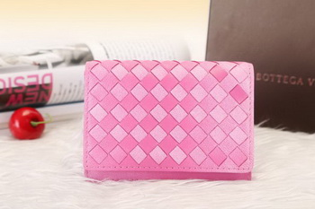 Bottega Veneta Shock Intrecciato Washed Vintage Card Case 133945 Peach