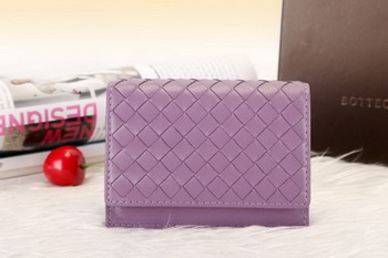 Bottega Veneta Shock Intrecciato Washed Vintage Card Case 133945 Purple