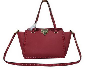 Valentino Garavani Rockstud mini Tote Bag Grainy Leather VG1916 Maroon