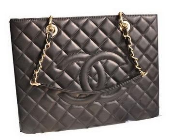 Chanel Classic Coco Bag Black GST Sheepskin Leather A50995 Gold