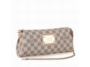 Louis Vuitton N55214 Damier Azur Canvas Eva Clutch