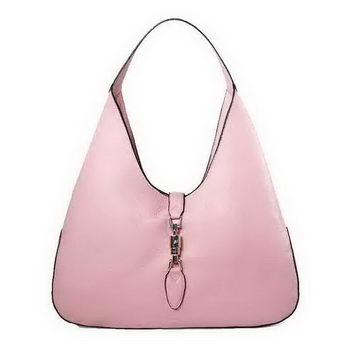 Gucci 362968 Jackie Soft Calfskin Leather Hobo Bag Pink