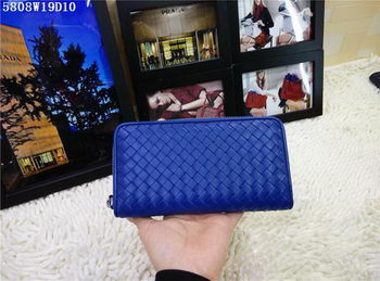 Bottega Veneta Intrecciato Nappa Zip Around Wallet BV5808 Blue