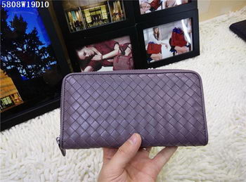Bottega Veneta Intrecciato Nappa Zip Around Wallet BV5808 Lavender