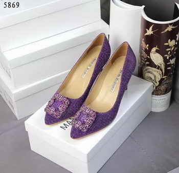 Manolo Blahnik Crystal Pump MB062CK Purple