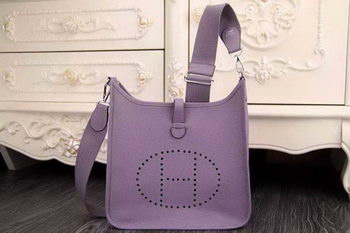 Hermes Evelyne 28cm Messenger Bag Original Leather H1188 Lavender