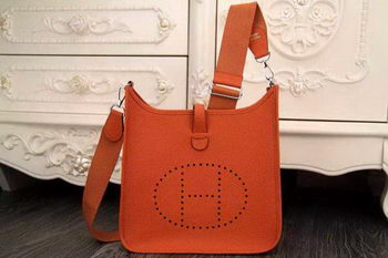Hermes Evelyne 28cm Messenger Bag Original Leather H1188 Orange